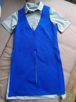 Новый комплект: платье-рубашка и длинная безрукавка