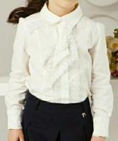 Продам блузку с кружевным галстуком